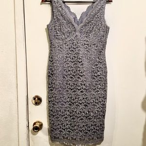 Adrianna Papell Silver Dress